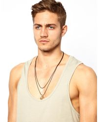 ASOS - Metallic Necklace with Multi Chain and Cross for Men - Lyst