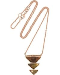 Brooke Gregson - Pink 18karat Rose Gold Andalusite and Diamond Necklace - Lyst
