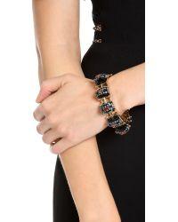 Elizabeth Cole - Black 5 Station Cuff Bracelet - Lyst