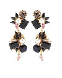 Erdem - Pink Exclusive To Mytheresacom Goldplated Crystal Earrings - Lyst