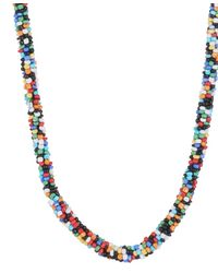 Forever 21 | Multicolor Seed Bead Necklace | Lyst