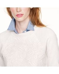 J.Crew - Natural Tulip Embroidery Sweatshirt - Lyst