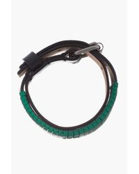 Lanvin - Green Hardware and Leather Buckled Bracelet for Men - Lyst