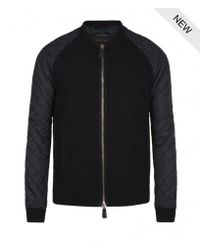AllSaints | Black Cessna Leather Bomber for Men | Lyst