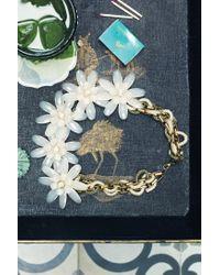 Anthropologie - Metallic Marguerite Bib Necklace - Lyst