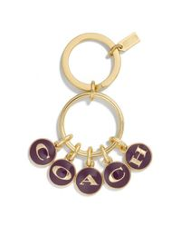 COACH - Purple Enamel Disk Multi Mix Key Ring - Lyst