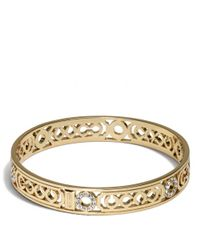 COACH | Metallic Pierced Op Art Lozenge Bangle | Lyst