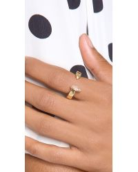 Giles & Brother - Metallic Railroad Spike Pave Ring - Lyst