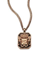 Gucci | Metallic Vintage Crest Necklace for Men | Lyst