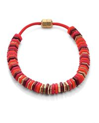 Marc By Marc Jacobs | Red Bolt Slice Necklace | Lyst