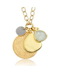 Monica Vinader | Metallic Ava Button Necklace | Lyst