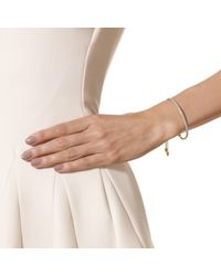 Monica Vinader - White Fiji Diamond Bar Bracelet - Lyst