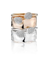 Monica Vinader | Metallic Siren Diamond Small Stacking Ring | Lyst