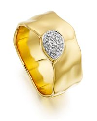 Monica Vinader | Metallic Siren Diamond Wide Band Ring | Lyst