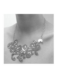 Monica Vinader - Metallic Lace Necklace - Lyst