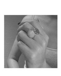 Monica Vinader - Blue Nugget Ring Large - Lyst