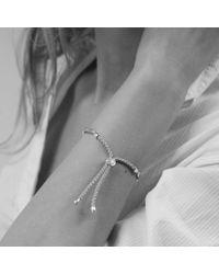 Monica Vinader | Metallic Fiji Diamond Pave Bracelet | Lyst