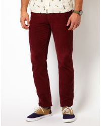 Native Youth | Red Cord Trousers for Men | Lyst