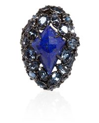Alexis Bittar - Gray Lapis Lazuli Pavo Nova Fancy Ring - Lyst