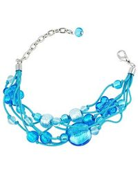 Antica Murrina | Blue Cancun Murano Glass Beads Flowers Multistrand Bracelet | Lyst