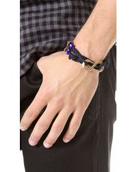Giles & Brother | Blue Double Wrap S Hook Bracelet for Men | Lyst