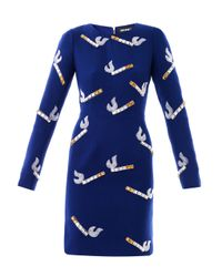 House of Holland - Blue Cigarette embellished Dress - Lyst