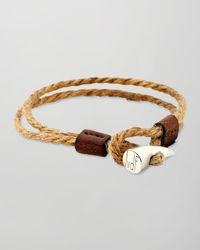 JvdF | Metallic Sterling Silvertoggle Rope Wrap Bracelet | Lyst