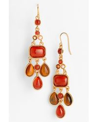 Lauren by Ralph Lauren | Red Chandelier Earrings | Lyst