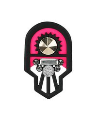TOPSHOP - Pink Cut Out Geometric Brooch - Lyst