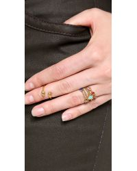 A Peace Treaty - Metallic Chagii Stacking Rings - Lyst