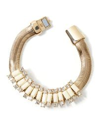 Banana Republic | Metallic Slider Bracelet Ivory | Lyst