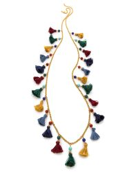 Ben-Amun | Multicolor Long Mini Tassel Necklace | Lyst