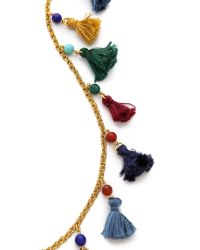 Ben-Amun | Multicolor Long Mini Tassel Necklace | Lyst