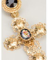 Dolce & Gabbana - Metallic Cross Earrings - Lyst