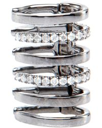 Elise Dray | Metallic Diamonds Rib Cage Earcuff | Lyst