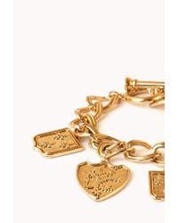 Forever 21 - Gray Regal Charm Bracelet - Lyst
