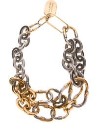 Lanvin | Metallic Chunky Chain Necklace | Lyst