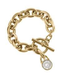 Michael Kors | Metallic Chainlink Charm Bracelet | Lyst