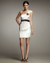 Hoaglund New York | White One-Shoulder Velvet Dress | Lyst
