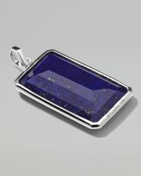 Ippolita - Metallic Sterling Silver Large Rectangular Pendant in Nuummitelapis for Men - Lyst