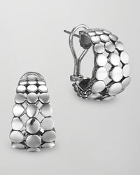 John Hardy - Metallic Silver Dot Buddha Belly Earrings - Lyst
