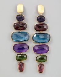 Marco Bicego | Multicolor Murano 18k Six-drop Semiprecious Earrings | Lyst