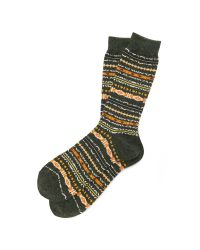Anonymous Ism | Green Nep Fair Isle Crew Socks for Men | Lyst
