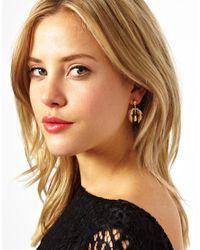 ASOS - Metallic Vintage Style Mini Pearl Earrings - Lyst