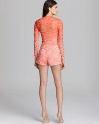 Dolce Vita - Pink Romper Clarice Stretch Lace - Lyst