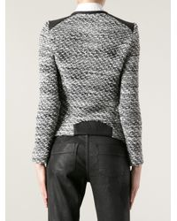 IRO | Black Bouclé Knit Jacket | Lyst