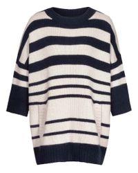 Reiss - Blue Lluela Stripe Striped Chunky Jumper - Lyst