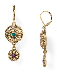 T Tahari - Metallic Raj Double Drop Earrings - Lyst