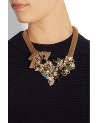 Bijoux Heart - Metallic Empire Goldplated Swarovski Crystal Necklace - Lyst