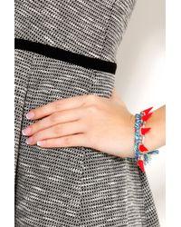 Joomi Lim - Multicolor Woven And Fluro Spike Bracelet - Lyst